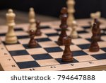 chess on chessboard close up | Shutterstock . vector #794647888