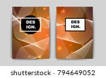 dark orange vector banner for...