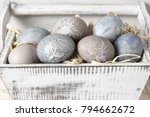 natural dyed grey easter eggs...   Shutterstock . vector #794662672