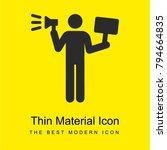 demonstrator bright yellow...   Shutterstock .eps vector #794664835