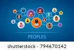 peoples flat icon concept.... | Shutterstock .eps vector #794670142
