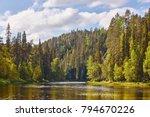 Finland Forest At Sunset. Pien...