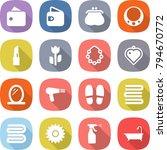 flat vector icon set   wallet... | Shutterstock .eps vector #794670772