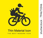 bicycle bright yellow material...