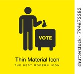 voting bright yellow material...