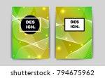 light green  yellow vector... | Shutterstock .eps vector #794675962