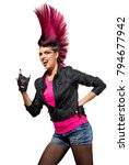 young punk girl isolated on... | Shutterstock . vector #794677942