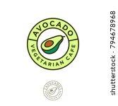 vegetarian restaurant logo.... | Shutterstock .eps vector #794678968