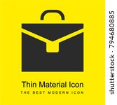 briefcase bright yellow...