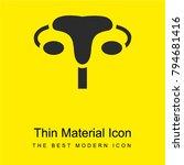 uterus bright yellow material...