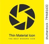 shutter bright yellow material...