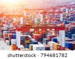 china yangshan port  the... | Shutterstock . vector #794681782