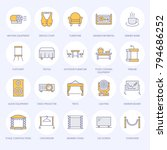 event supplies flat line icons. ... | Shutterstock .eps vector #794686252