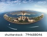 palm jumeirah island from above ... | Shutterstock . vector #794688046