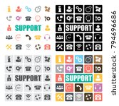 support icons set | Shutterstock .eps vector #794696686
