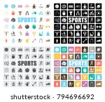 sports icons set | Shutterstock .eps vector #794696692