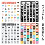information icons set | Shutterstock .eps vector #794696716