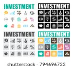 investment icons set | Shutterstock .eps vector #794696722