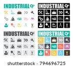 industrial icons set | Shutterstock .eps vector #794696725