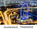 beautiful night view of...   Shutterstock . vector #794696905