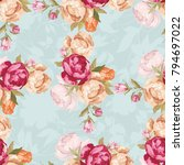 seamless floral pattern with... | Shutterstock .eps vector #794697022