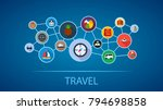 travel flat icon concept.... | Shutterstock .eps vector #794698858