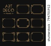 set of art deco borders and... | Shutterstock .eps vector #794701912