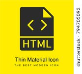 html bright yellow material...