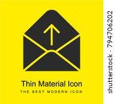 envelope bright yellow material ...