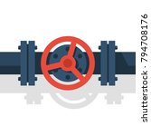 valve on pipe. can be used as... | Shutterstock .eps vector #794708176