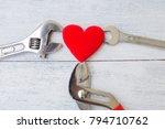 Heart Repair Concept  Red Hear...