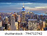 new york city at night ... | Shutterstock . vector #794712742