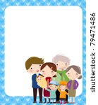 happy family and frame | Shutterstock .eps vector #79471486