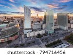 warsaw city with modern... | Shutterstock . vector #794716456
