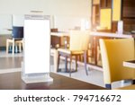 mock up blank white menu frame... | Shutterstock . vector #794716672