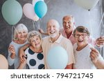 close up of happy  excited... | Shutterstock . vector #794721745