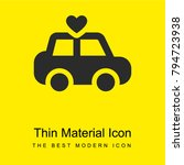 car bright yellow material...