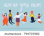 diverse international and... | Shutterstock .eps vector #794725582