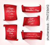 happy valentine's day banners ... | Shutterstock .eps vector #794725642