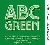 vector hipster style green... | Shutterstock .eps vector #794732026