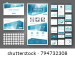 website template  one page... | Shutterstock .eps vector #794732308