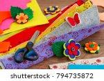 crafts made of felt.... | Shutterstock . vector #794735872