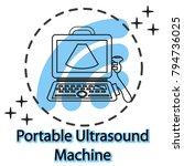 portable laptop ultrasound...   Shutterstock .eps vector #794736025
