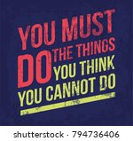 vector motivational poster.... | Shutterstock .eps vector #794736406