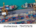 logistics and transportation of ... | Shutterstock . vector #794737678