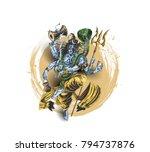 lord shiva   happy maha... | Shutterstock .eps vector #794737876