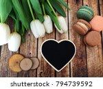 valentines empty heart shaped... | Shutterstock . vector #794739592