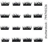 grass icon set | Shutterstock .eps vector #794743126