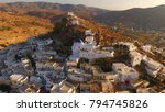 aerial photo of iconic chora of ...   Shutterstock . vector #794745826