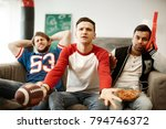 disappointed football fans... | Shutterstock . vector #794746372